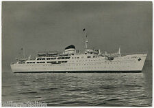 "ITALIA, NAVE SHIP ""CAMPANIA FELIX"" BY TIRRENIA NAPOLI, ANNULLO PALERMO, 1966   m"