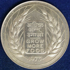 India 20 Rupees 1973 Fao Silver #597