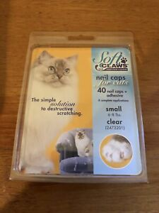 Soft Claws Nail Caps for Cats Take Home Kit Size Small Clear-Colored Caps NISB