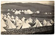1909  CAIGTON ARMY CAMP Royal Scottish Fusiliers  Military  Photo Postcard
