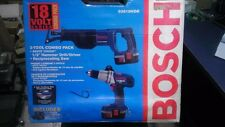 18V HAMMER DRILL/DRIVER RECIPROCATING SAW BOSCH 93618HDR (BOSCH-93618HDR)
