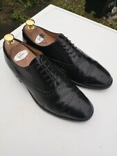 LOAKE Oban Mens 100% Leather, Black Lace-up Oxford Brogues UK 7.5 F (41.5).