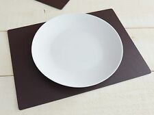 Set of 4 Brown EXTRA LARGE Leatherboard PLACEMATS