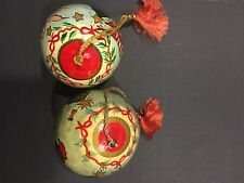 Two Hand Painted Balls