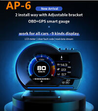 Smart GADGET OBD2+GPS HUD 9 Display A-pillar Display Alarm Trim Oil & Water Temp