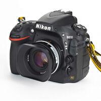 Universal Square Metal 52mm Lens Hood for Canon Nikon Pentax Sony Nikkor Lens
