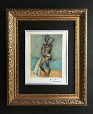 PABLO PICASSO ORIGINAL 1948 BEAUTIFUL SIGNED PRINT MATTED 11 X 14 + LIST  $995