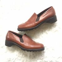 Cole Haan Brown Leather Slip On Loafers Women's Size 8.5 AA