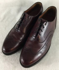 Johnston & Murphy Men's Dark Brown Leather Wingtip Oxfords Shoes 22-2753 Sz 10D