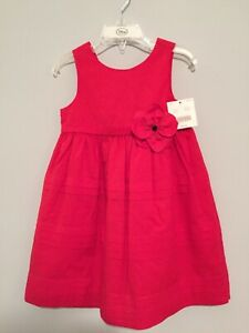Janie and Jack Vintage Blooms Red Dress NWT Size 2T