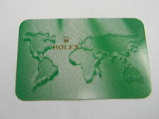 card 2006-2007 Rolex calendar