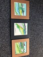 "Oil Paintings Lot Of 3 ""Signed ""R Marshall Smith"""