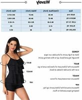 Wavely One Piece Swimsuits for Women Tummy Control Bathing, Black, Size X-Large
