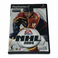 NHL 2004 (Sony PlayStation 2, 2003) PS2 Complete w/Manual Tested Works