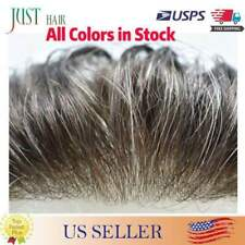 Super Thin Skin V-loop Mens Toupee Hairpiece Replacement Poly Pu Hair System Wig
