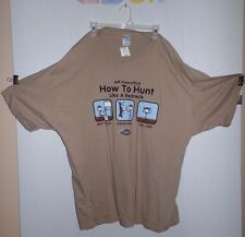 NWT VINTAGE JEFF FOXWORTHY  REDNECK WEAR - HOW TO HUNT T Shirt 3X XXXL TEE SHIRT