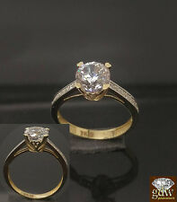 14k Yellow Gold Ladies Engagement,Wedding Bridal Ring, 1CT Diamond look