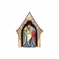 """Jim Shore """"Creche And Holy Family"""" ~ Set of 2 ~ New!"""