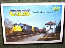 """n057 TRAIN VIDEO DVD """"CSX CUMBERLAND SUB"""" 1999"""