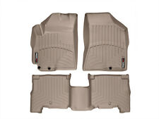 WeatherTech Floor Mats FloorLiner for Hyundai Santa Fe - 2010-2012 - Tan