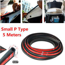 5M Small P Type Rubber Soundproofing Sealing Strips Trim For Auto Car Door Edge