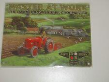 Brand New Metal Wall Sign - David Brown Tractors Master at Work - 20 x 15cm