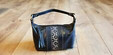 Small Genuine Cowhide Leather Black Vintage Coach Purse Handbag
