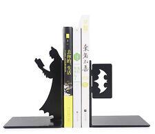 One Set Cool Reinforced Steel Bookends Super Hero Dark Knight Batman Bookends