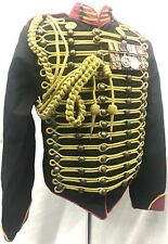 "Men's Military Army Gold Hussar  Officer BlackRed In 42,44,46"" Medal/Aiguillette"
