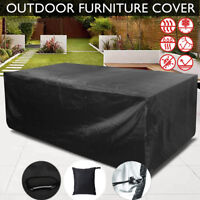 Rectangle Waterproof Patio Furniture Cover Outdoor Table Chairs Bench Sofa Cover