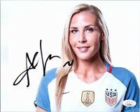 "~~ ALLIE LONG Authentic Hand-Signed ""USA WOMEN'S SOCCER"" 8x10 Photo (JSA COA) ~~"
