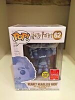 NEARLY HEADLESS NICK GLOW SDCC 2018 CONVENTION EXCL FUNKO POP HARRY POTTER #62