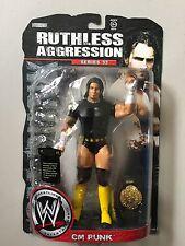 WWF WWE Jakks Ruthless Aggression CM PUNK Figure ERROR - NO PRINT ON SHIRT