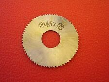 40x0.5MM x72Teeth HSS Slitting / Slotting Saw