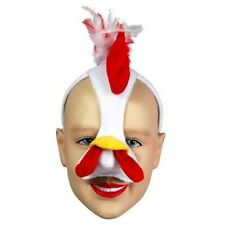 New Chicken Face Mask Animal Fancy Dress Costume With Sound Effect FX