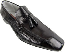 CESARE PACIOTTI STYLISH BLACK EEL LOAFERS SHOES US 11