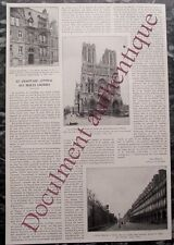 Article,Chauffage central à l'huile lourde,cathedrale Reims,hotel Meurice,1931