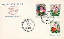 Repubblica Italiana 1981 FDC Cavallino Fiori d'Italia