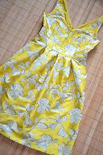 Hallhuber bellissimo vestito tg. 42/UK 14 NUOVO Scollo Schiena Giallo Sole
