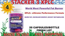 Stacker 3 XPLC 20 Capsules, 4 Bottles 80 ct Weight Loss & Energy Dietary 10/2023