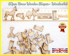 50 Wooden Horse Shapes Craft Scrapbooking MDF Wood Gift Cut Card Making