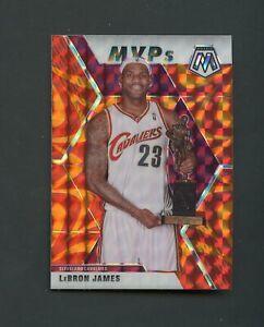 2019-20 Panini Mosaic Orange Reactive Prizm #298 LeBron James Cavaliers MVPs