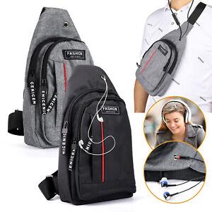 Men Chest Bag Pack Travel Sport Bag Shoulder Sling Backpack Cross Body Outdoor