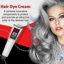 Hair Cream Permanent Punk Hair Dye Light Gray Silver Color Cream 100ml a a