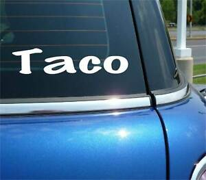TACO DECAL STICKER FUNNY MEXICAN FOOD TACO TUESDAY MEXICAN FISH CAR TRUCK