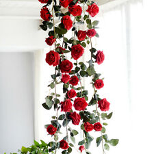 180cm Silk Rose for Wedding Home Decoration Artificial Faux Flowers Red