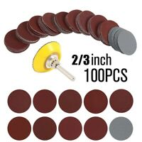 100 x 3'' 75mm Hook & Loop Sander Sanding Discs Pads 80 - 3000 Grit Sandpaper UK