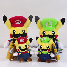 Pokemon Pikachu Super Mario Luigi & Mario Plush Doll Toy 4pcs Xmas Gift