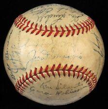 1946 New York Yankees Team Signed Autographed Baseball Joe Dimaggio JSA COA