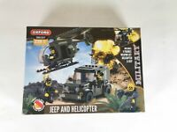 OXFORD MILITARY JEEP AND HELICOPTER PLAYSET -  OM3307